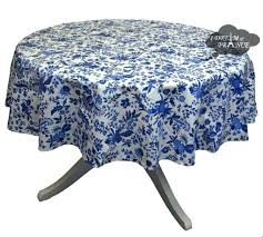 round blue cotton coated tabcloth by turquoise tablecloth uk