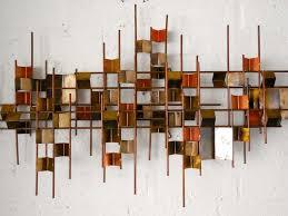 brilliant vintage metal wall art simple design idea top adorable extraordinary fan mounted waterfowl decorating shelf