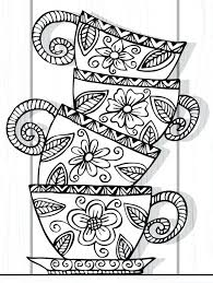Colouring Pages For Recolor Teacup Stack Colouring Page Recolor App