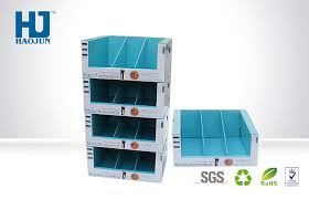 Table Top Product Display Stands Varnishing Colour Printing Snacks Tabletop Paper Cardboard Display 12