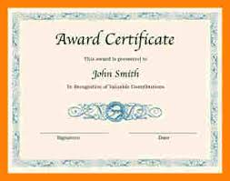 Word Template For Certificate .printable Award Certificate Template ...