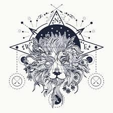 Fototapeta Mystic Lev Tetování Alchymie Náboženství Duchovno