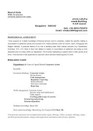 Mba Graduate Resume Interesting Resume Recon And Settlement New