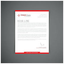 Letter Headed Paper Template Red Letterhead Template Free Vector Company Letter Headed Paper