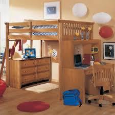 image of kids loft beds with desk underneath