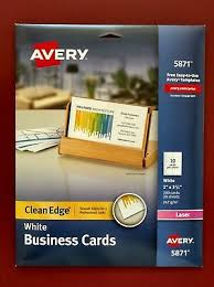 Avery 5871 Laser Two Sided Clean Edge White Business Cards