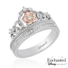 enchanted disney fine jewelry rapunzel s diamond tiara ring 1 10ctw size 7