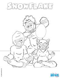 SNOWFLAKE, the white gorilla coloring pages - 5 Movies online ...