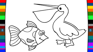 Small Picture Animal Coloring Pages How to Draw a Fish with Pelican Drawing