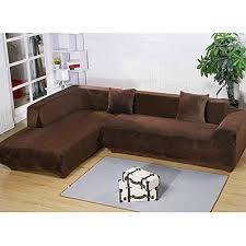 Sectional covers Piece Getmorebeauty Shape Sectional Thick Plush Velvet Couch Stretch Sofa Cover Sofaslipcovers coffee Gooddiettvinfo Sectional Couch Covers Sure Fit Stretch Amazoncom
