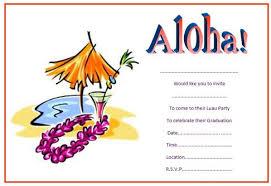 Hawaiian Themed Invitations Luau Party Invitations Mes Specialist