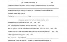 Rental Reference Form Verification Forms For Landlord Or Tenantlate