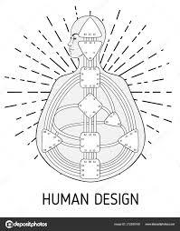 Human Design Chart Human Design Bodygraph Chart Design Vector Isolated