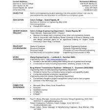 Resume Template For College Students Resume Template For College Studentps Examples Students Seeking 100