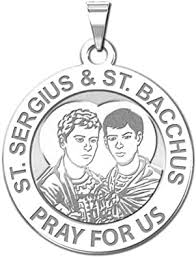 Amazon.com: PicturesOnGold.com Saint Sergius and Saint Bacchus Religious  Medal - 2/3 Inch Size of Dime, Sterling Silver : Clothing, Shoes & Jewelry