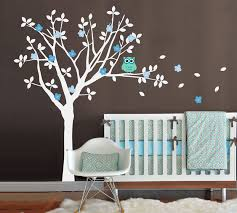 baby nursery vinyl wall decals tree and owl wall decal set one color tree on tree wall art for baby nursery with baby nursery vinyl wall decals tree and owl wall decal set one