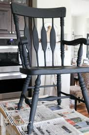 Black Dining Room Chair Makeover by The Wood Grain Cottage More