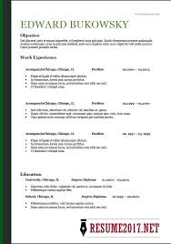 Resume Template Chronological Format Modern Resume Templates Non Chronological Chronological Resume