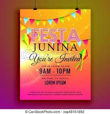 invitation flyer festa junina party invitation flyer design