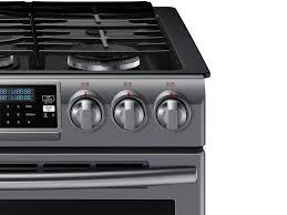 gas range. Slide-In Gas Range With True Convection