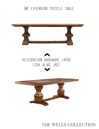 restoration hardware look alike table