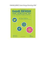 Tracy Fullerton Game Design Workshop Pdf Ebook Pdf Game Design Workshop Pdf