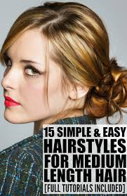 Hairstyle For Medium Hair Length and easy hairstyles for thick medium length hair 100 images 15 2115 by stevesalt.us