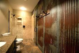 corrugated metal bathroom walls appealing tin shower wall schedule a rugged man style bath kitchen home corrugated metal