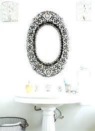 powder room vanity mirrors ornate bathroom mirror glam powder room with antique oval vanity mirrors