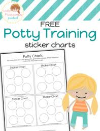 Potty Chart Free Free Potty Training Sticker Chart