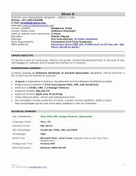 Sample Resume For Software Testing Freshers Best Of Fresher Resume