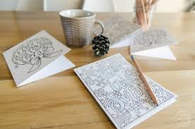 You can print four cards to a page. 2 Free Printable Christmas Cards To Colour Lemon Thistle