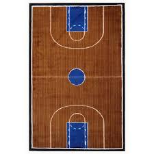 la rug supreme basketball court blue and brown 3 ft x 4 ft area