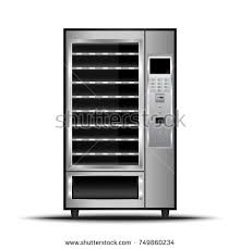 Automatic Ticket Vending Machine Project Inspiration Vending Machine Food Beverage Automatic Selling Stock Vector