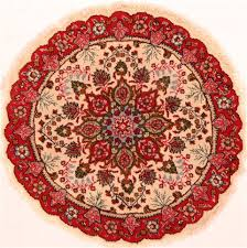 tabriz red round hand knotted 3 1