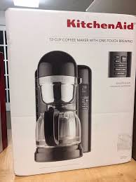 kitchenaid 12 cup coffee maker kitchenaid 12 cup coffee maker with one touch brewing kcm1204 51169883