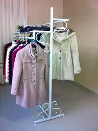Coat Bag Rack wrought iron clothing store clothes rack display shelf Vertical 50
