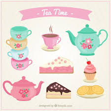 vintage tea cups vector. Fine Tea Cute Tea Cups Set With Cakes Premium Vector Intended Vintage Tea Cups E