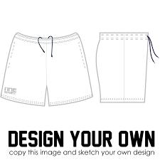 Shorts Design Template Sublimated Training Shorts