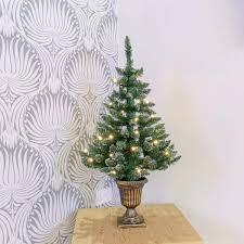 Flocked Christmas Tree Real Feel Pe Artificial Pre Lit Flocked Christmas Tree
