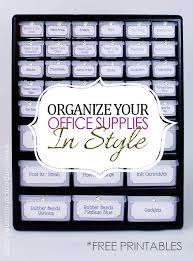 organizing home office. organize office supplies in style with a parts chest organizing home