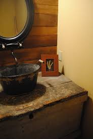 Plain Rustic Half Bathroom Ideas Bath Doors Home Decor With Decorating