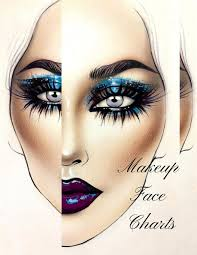 1051x1360 makeup face charts the essential blank notebook paper practice drawing makeup on paper