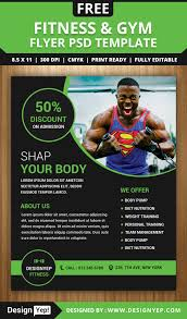 gym and fitness flyer psd template designyep gym and fitness flyer psd template