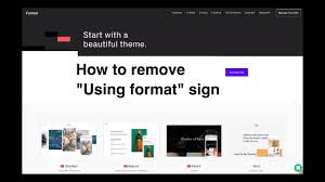How To Remove Using Format Sign From Formatcom Websites