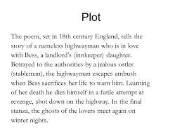 the highwayman alfred noyes ppt video online  plot the poem set in 18th century england tells the