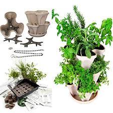 outdoor herb garden kit. Perfect Kit Garden Stacker Planter  IndoorOutdoor Culinary Herb Kit  Grow  Cooking Herbs To Outdoor H