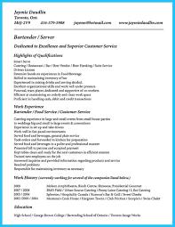 Bartending Description For Resume Myacereporter Com