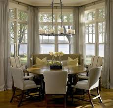 breakfast nook table ideas bay window