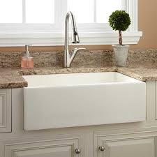 risinger reversible fireclay farmhouse sink smooth a sinks kitchen fire clay kitchen full size